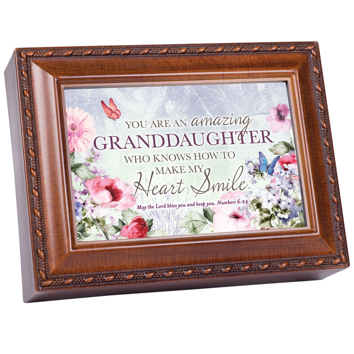 GRANDDAUGHTER MY HEART SMILE SCRIPT MUSIC BOX