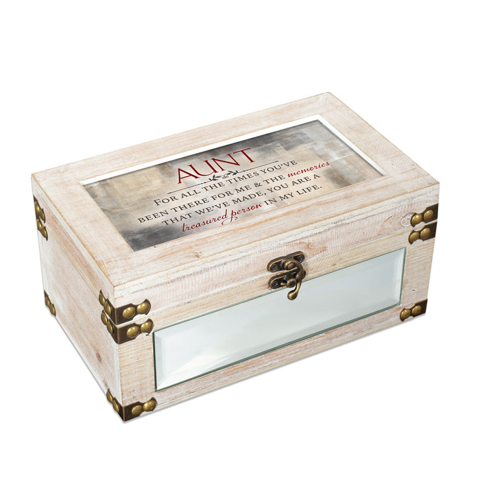 AUNT YOU ARE TREASURED IN MY LIFE JEWELRY BOX