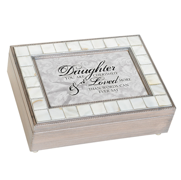 DAUGHTER CHERISHED AND LOVED JEWELRY BOX