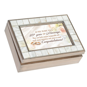 AS YOU MARK YOUR 25TH YEAR OF MARRIAGE JEWELRY BOX