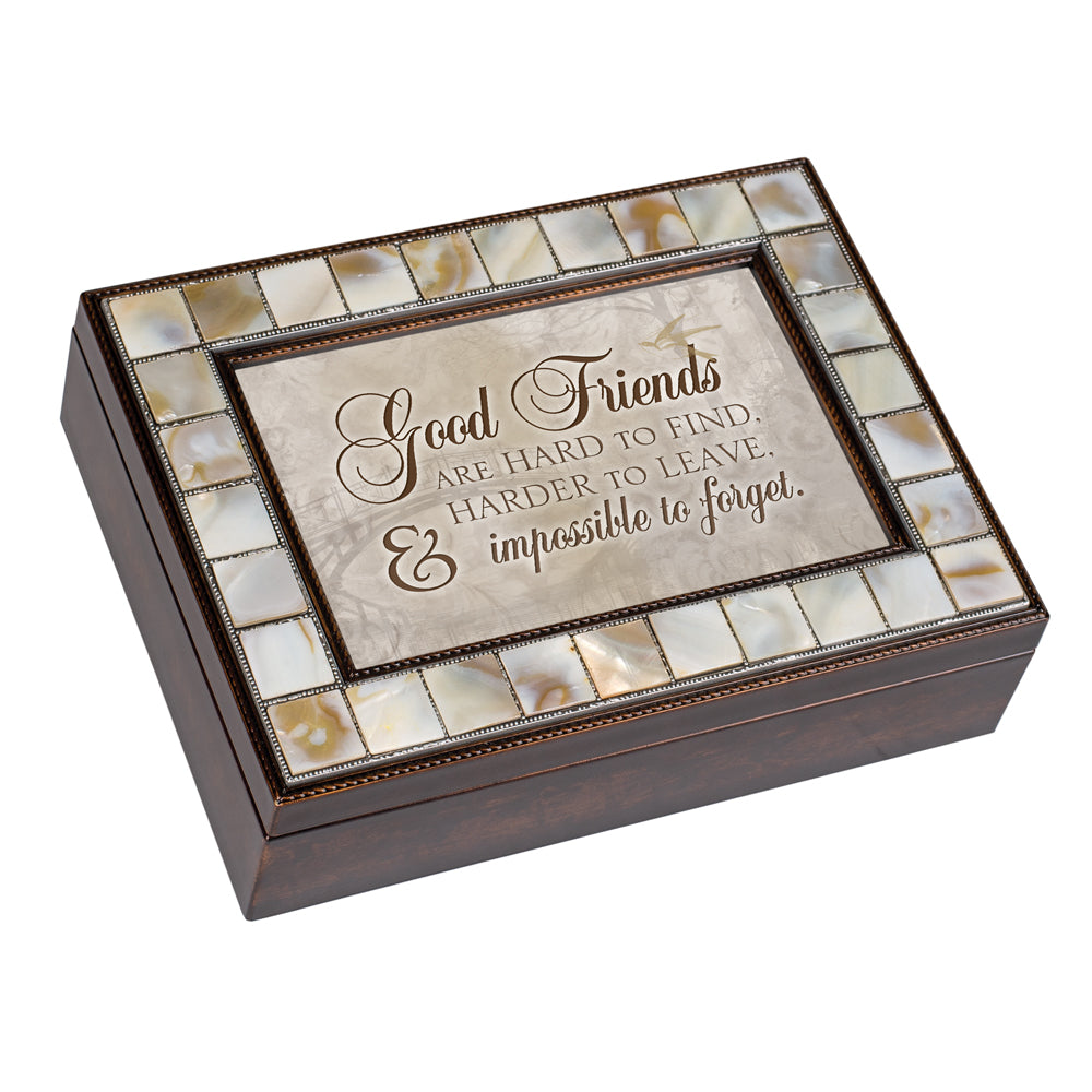 GOOD FRIENDS IMPOSSIBLE TO FORGET JEWELRY BOX