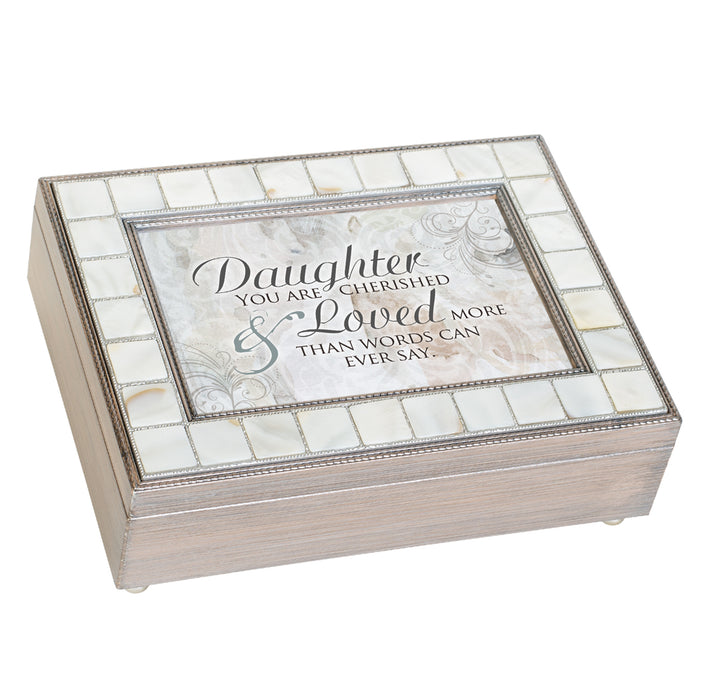 DAUGHTER LOVED MORE THAN WORDS JEWELRY BOX