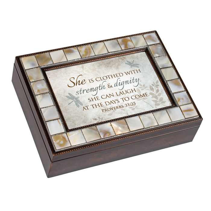 CLOTHED WITH STRENGTH DIGNITY JEWELRY BOX