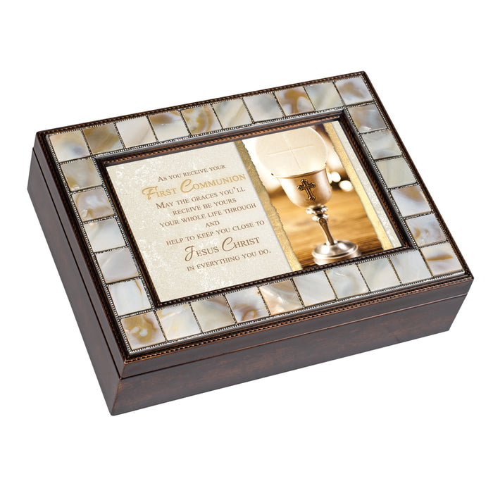 AS YOU RECEIVE FIRST COMMUNION JEWELRY BOX