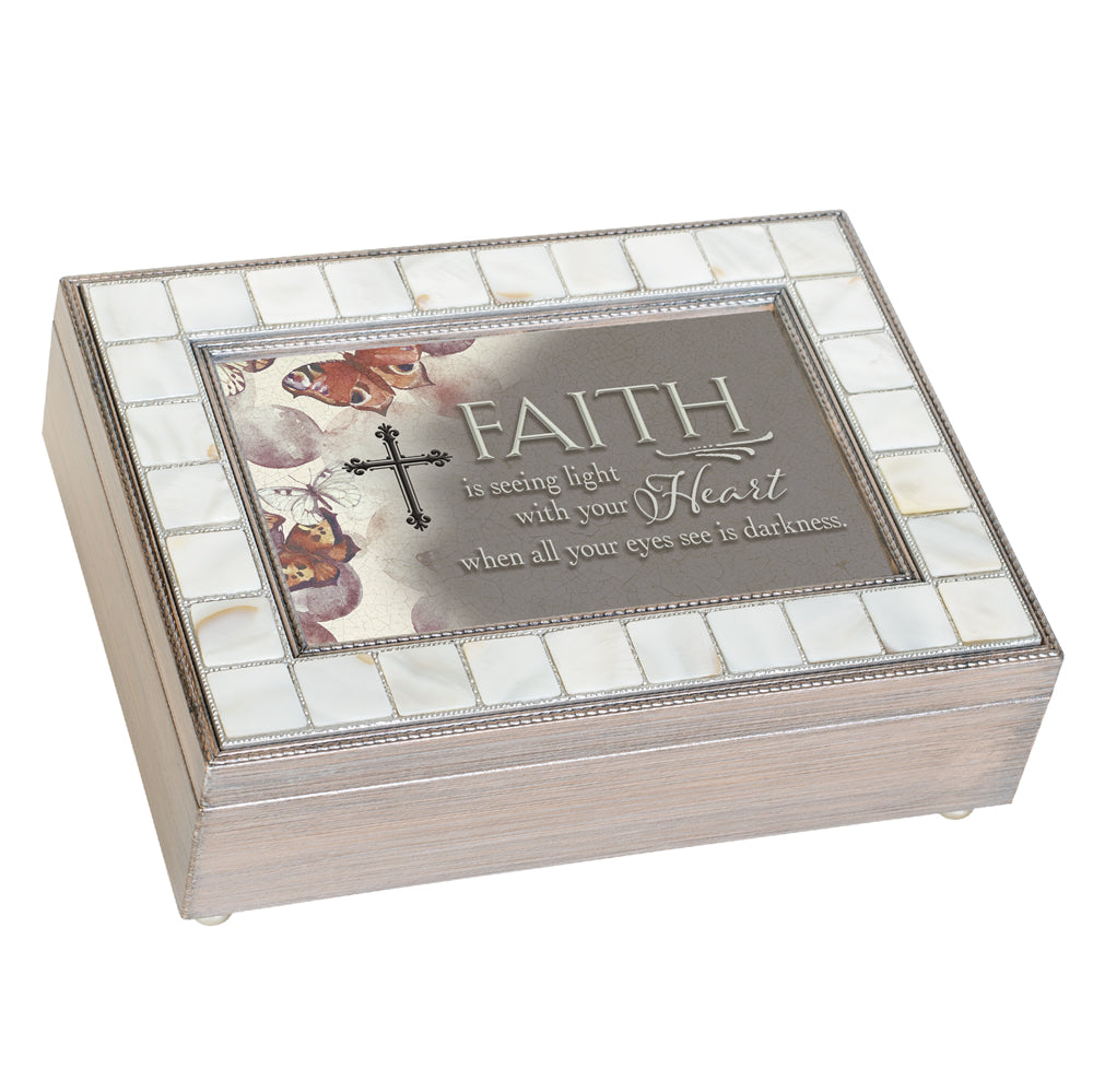 FAITH IS SEEING LIGHT WITH HEART JEWELRY BOX