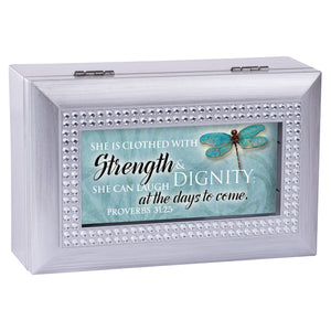 CLOTHED WITH STRENGTH DIGNITY MUSIC BOX
