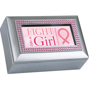 BREAST CANCER PINK RIBBON MUSIC BOX
