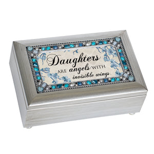 DAUGHTERS ANGELS WITH WINGS MUSIC BOX