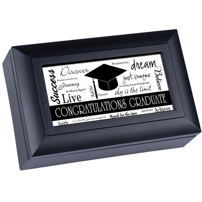 GRADUATE SUCCESS BLACK MUSIC BOX