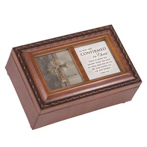 CONRIMED IN CHRIST SPIRIT CROSS JEWELRY BOX
