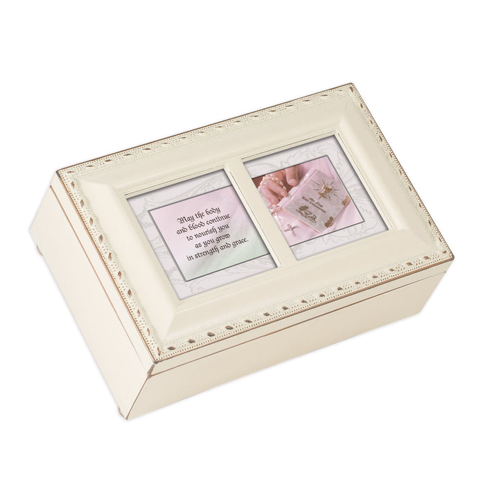 FIRST HOLY COMMUNION IVORY JEWELRY BOX