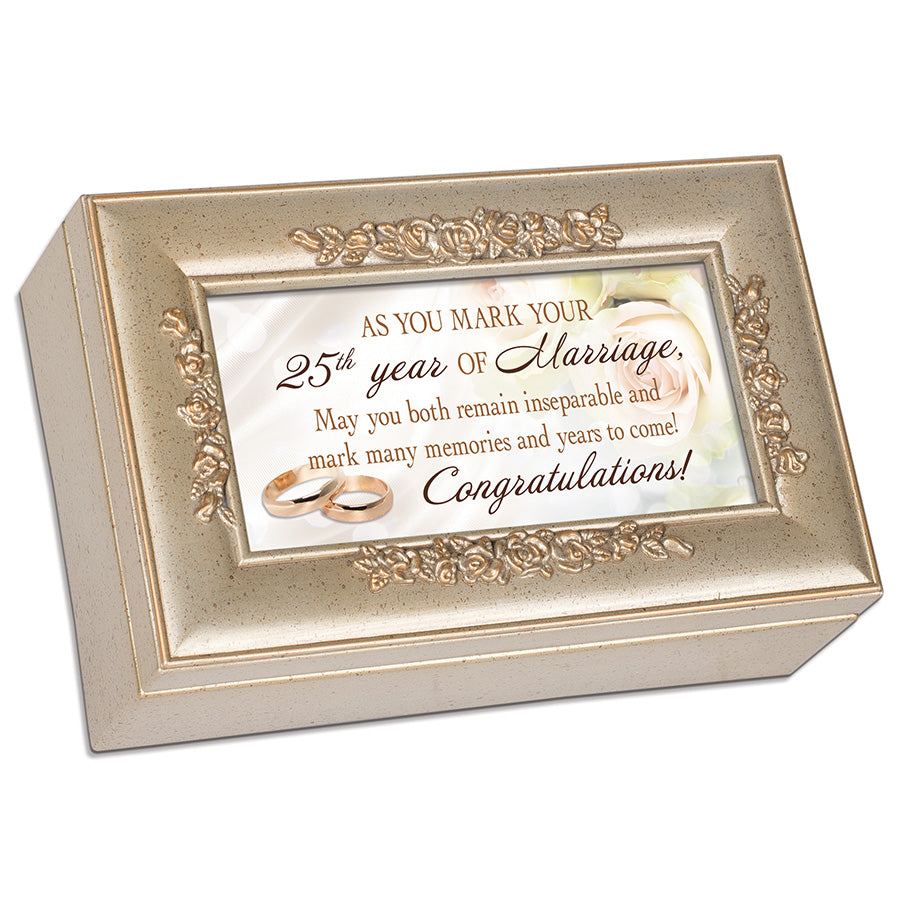 25TH YEAR OF MARRIAGE MUSIC BOX