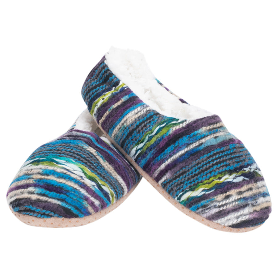 Blue Yarn Craft Blend Womens - Large SLIPPERS