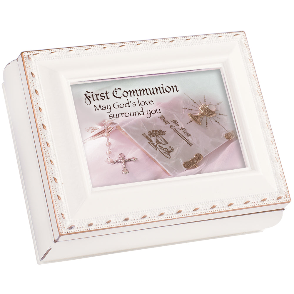 FIRST COMMUNION SCRIPT KEEPSAKE BOX