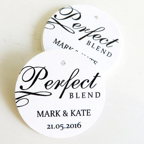 Perfect blend thank you tag