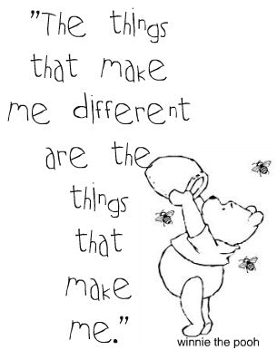 The things that make me different are the things that make me