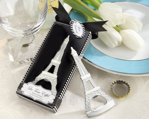 Eiffel tower bottle opener wedding favour and gift for guests