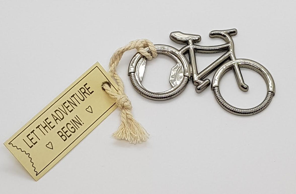 Let the Adventure Begin - Bicycle Bottle Opener (priced per unit)