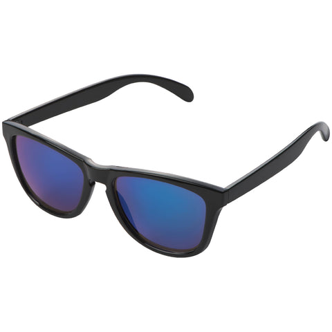 Cool retro sunglasses with blue mirror lens finish