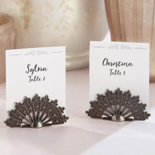 Antiqued Fan Place Card Holder (10086858761)