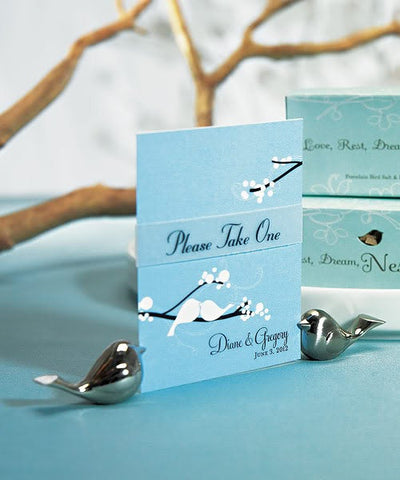 Lovebird Placeholder Wedding Favour
