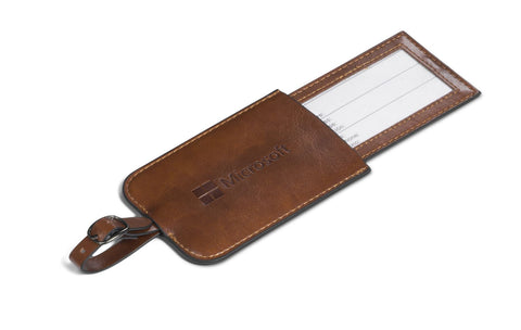Classic brown luggage tag (1570487926868)