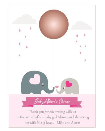 Baby Elly Lip Balm Thank You Cards