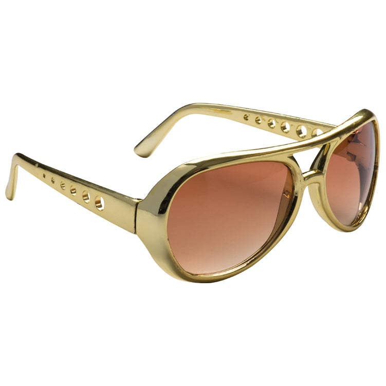Gold Elvis Style Sunglasses