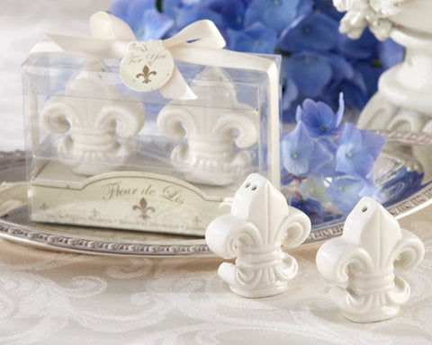 Fleur-de-Lis Salt and Pepper Shaker gift set