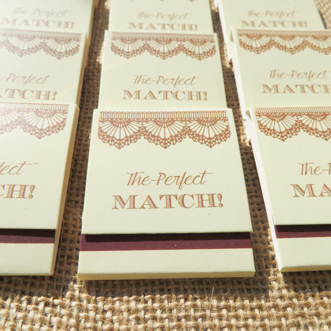 Matchbook guests favours