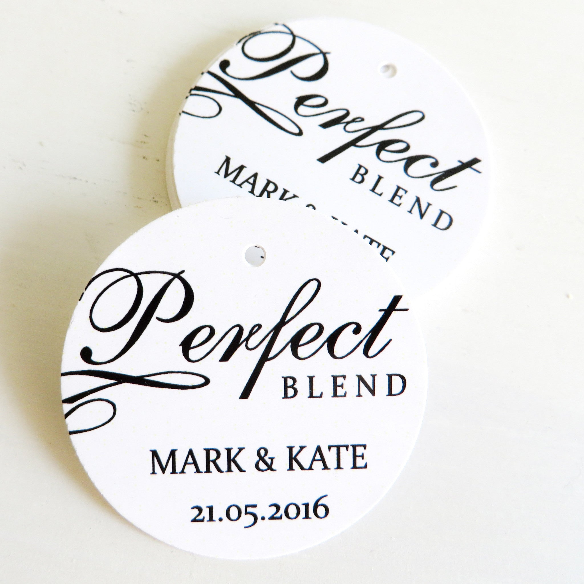 The Perfect Blend Personalised Thank You Tag – Simply Wedding Favours