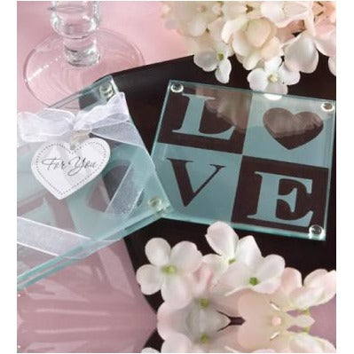 LOVE Glass Coaster Gift Set (108213646)