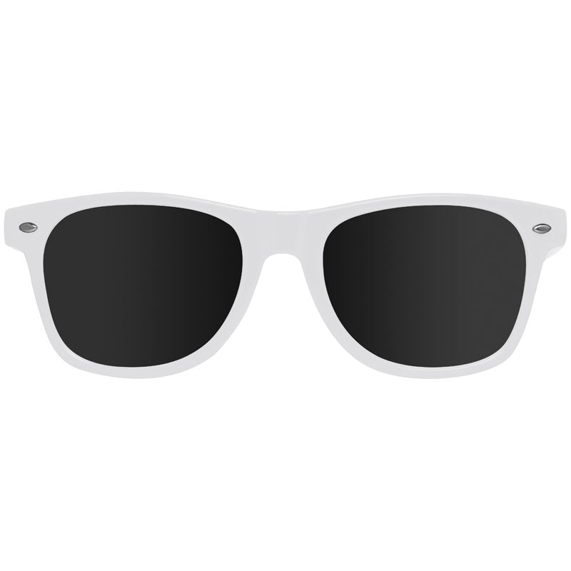 White nerdy sunglasses