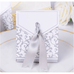 Silver ribbon gift box