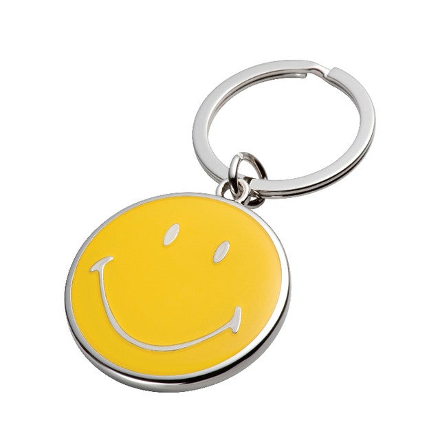 Happy Smiley Keyring Wedding Favour