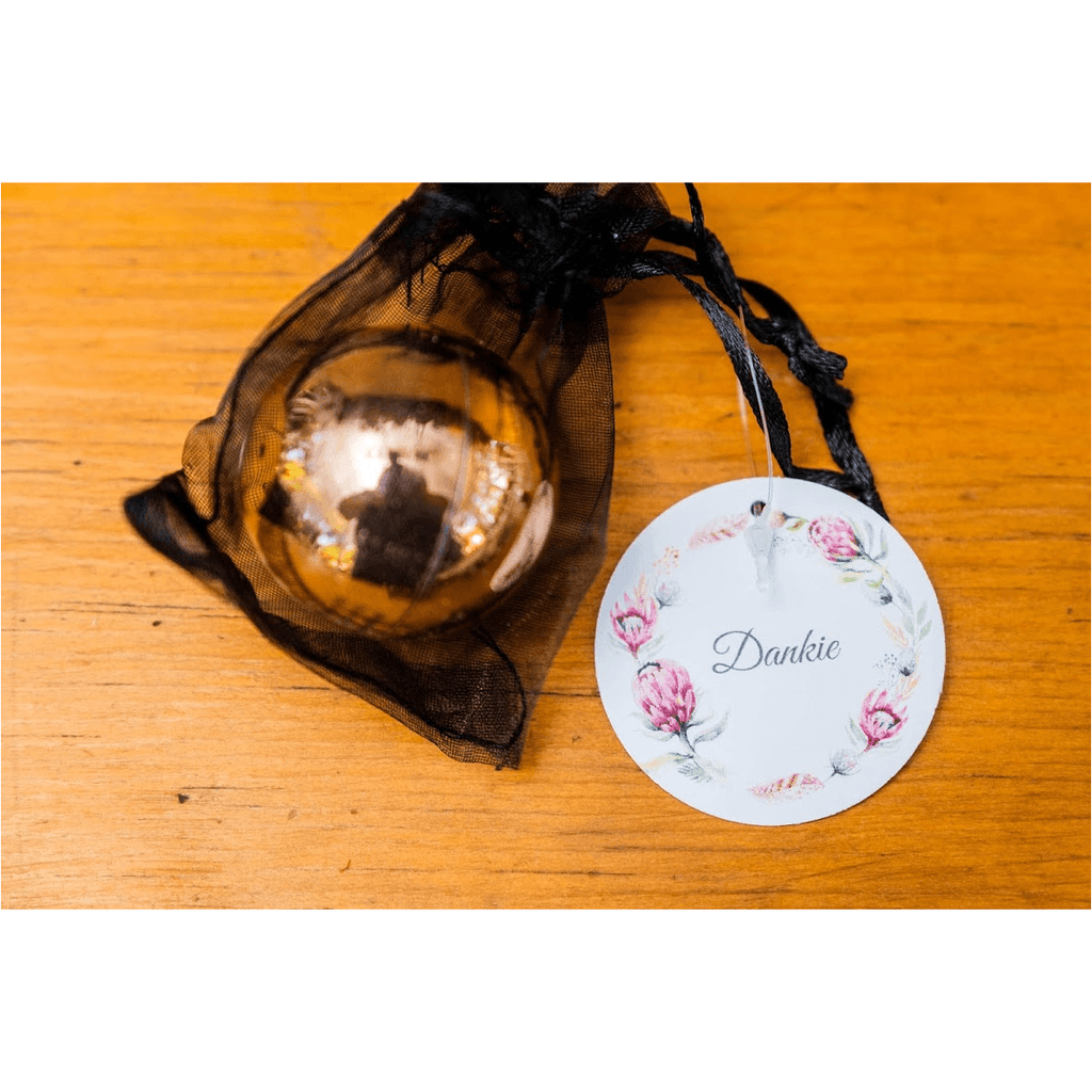 Rose gold lip balm in black organza bag (4546254635092)