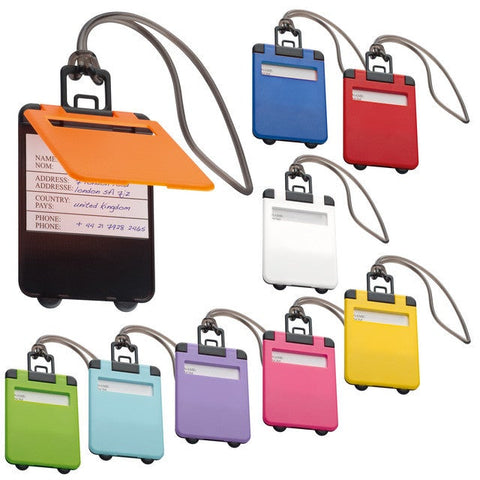 Colourful suitcase travel tag gifts