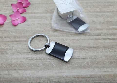 Black and Silver Keyring