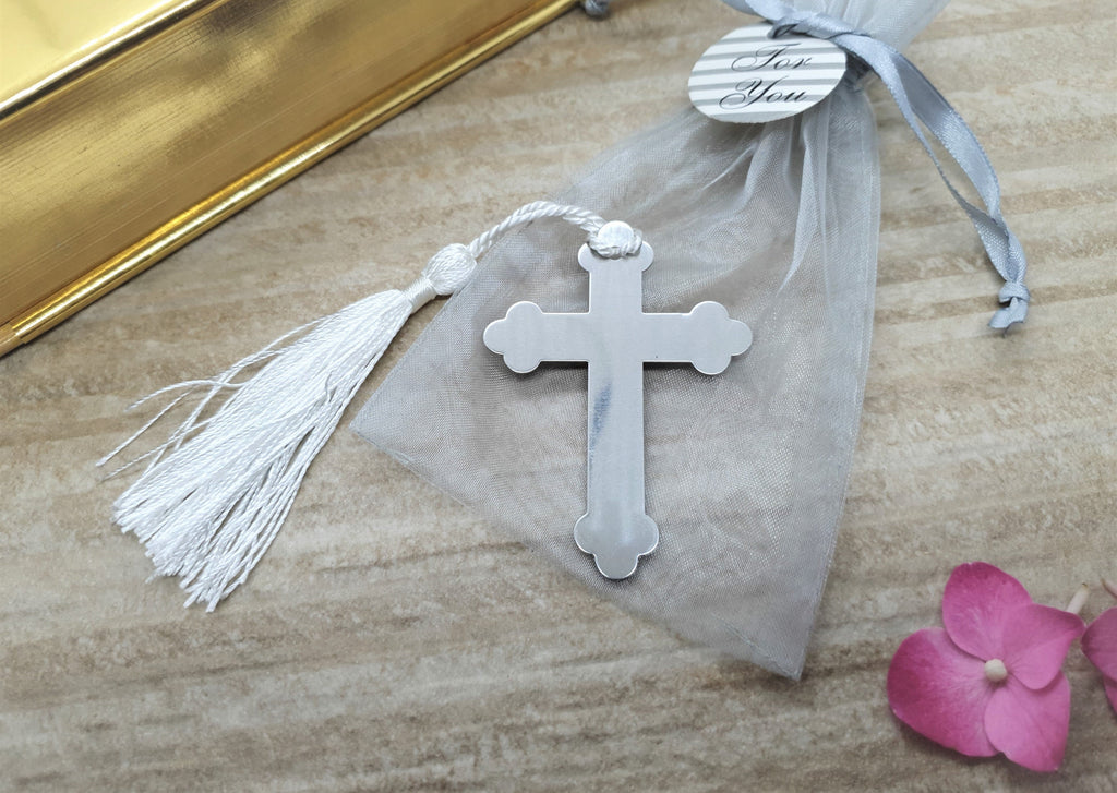 Cross bookmark in organza bag (4401904025684)