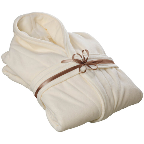 Soft and Fleecy Cream Bathrobe (9078876553)