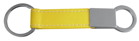 Fun Yellow leather key ring