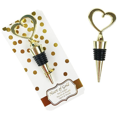 Heart of Gold Wine Bottle Stopper