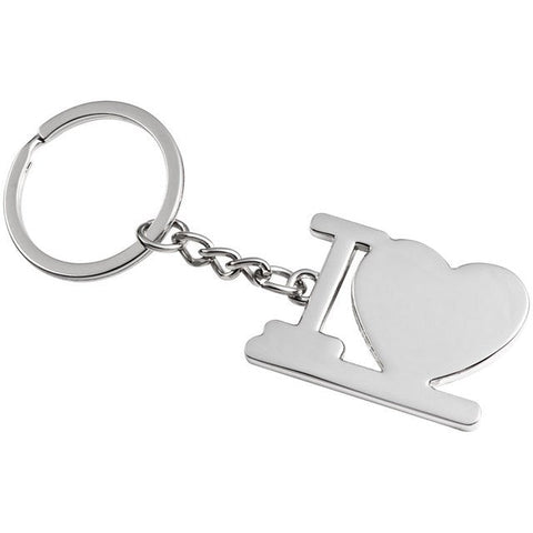 I love you heart keyring wedding favours