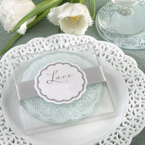 Lace Glass Coasters (2pcs)