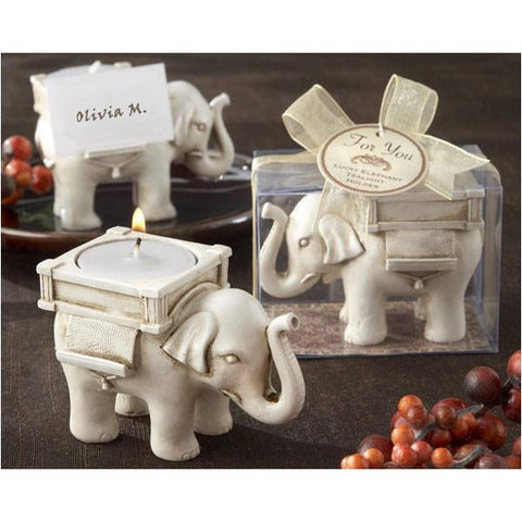 Lucky Elephant Tea Light Holder for Wedding Guests (93036090)