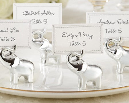 Lucky in Love - Silver Elephant Placeholder - Simply Wedding Favours