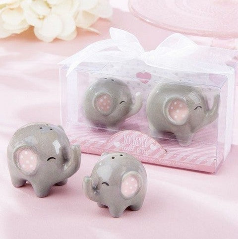 Mommy and Me Elephant Salt and Pepper Shakers