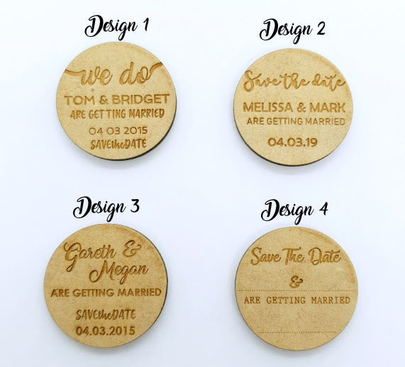 Wooden magnet design options (3526985449556)