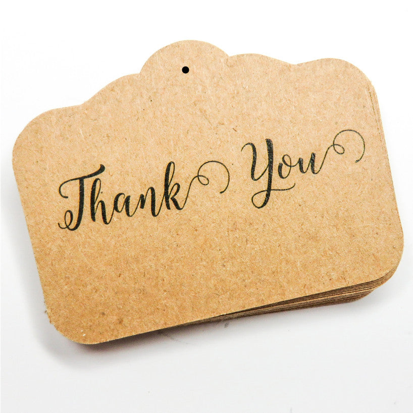 Scalloped Rectangular Thank You Tag