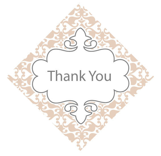 Vintage Thank You tag for Wedding Favours